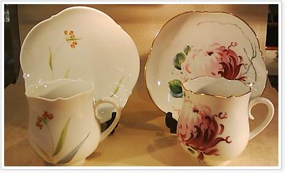マイセン「野の花」、「真紅の菊」